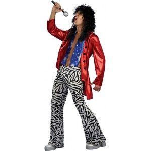 Déguisement années 80 homme, Déguisement chanteur Heavy Metal Hero homme look hard rock des années 80