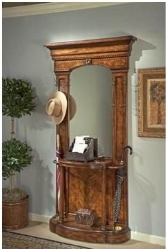 antique hall tree with umbrella stand - Google Search