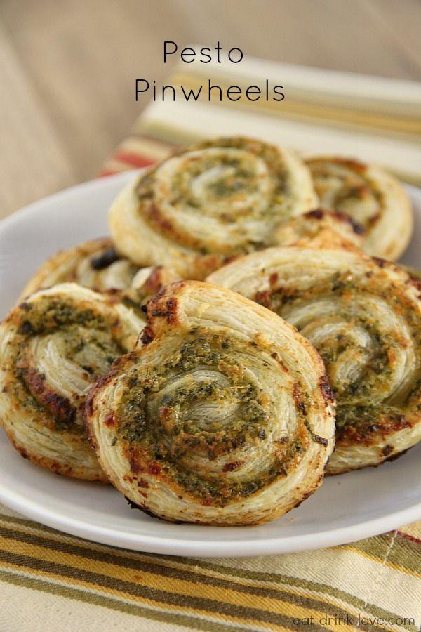 Pesto Pinwheels (Puff Pastry)