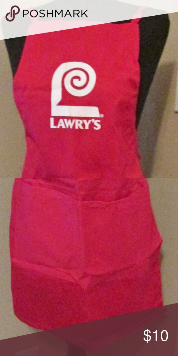 Lawry's Red Apron Lawry's Red Apron - in very good condition - smoke free home Lawry's Accessories