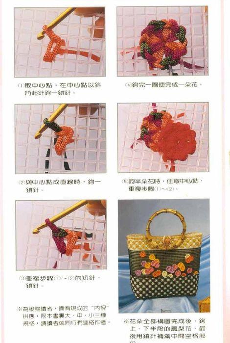 Вязание сумок на пластиковой