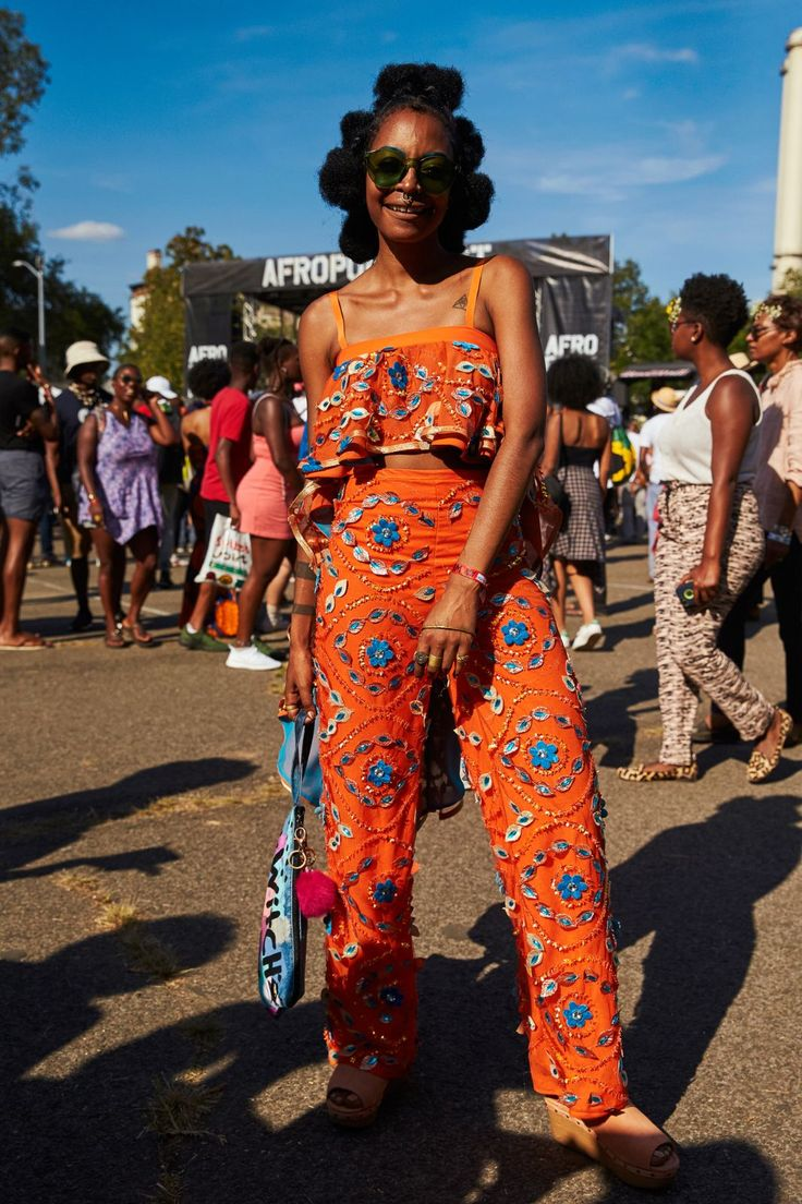 See All The Afropunk Outfits That Slayed #refinery29  http://www.refinery29.com/2016/08/121572/afropunk-2016-street-style#slide-18  The least basic matching set, ever....