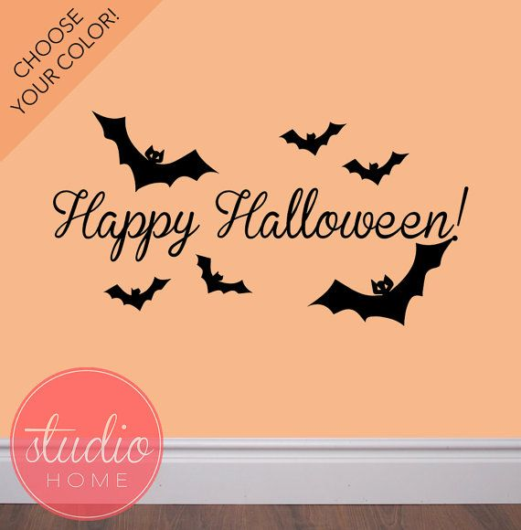 100 best vinyl wall decals images on pinterest art walls vinyl halloween bat wall decals