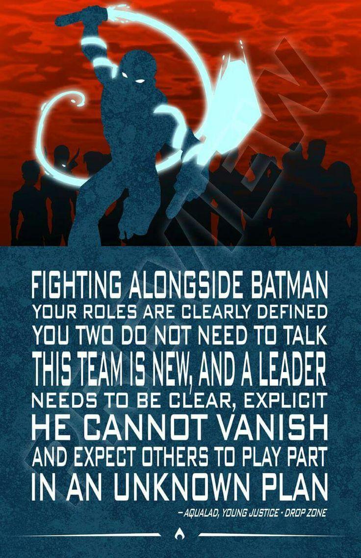 Aqualad quote. Kaldur'ahm. Teen Titans, Young Justice. DC Comics