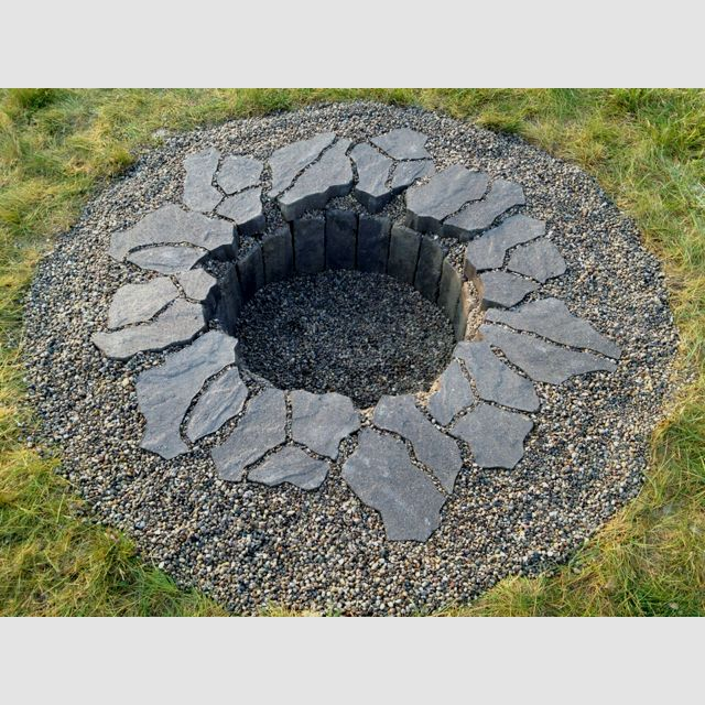 Fire pit in ground...coming soon!  I like the way it comes out a little bit more :) Cant wait until spring!