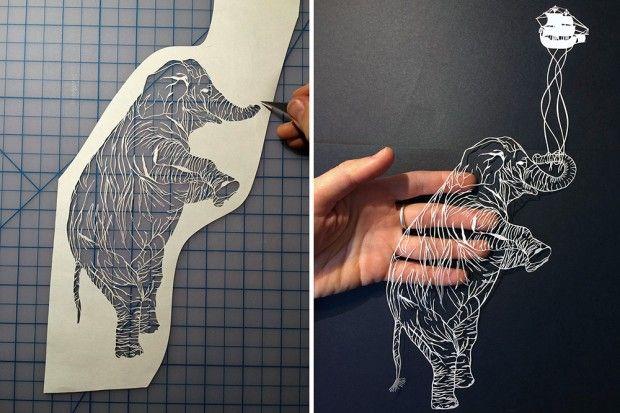 Illustrations en papier découpé par Maude White - Journal du Design