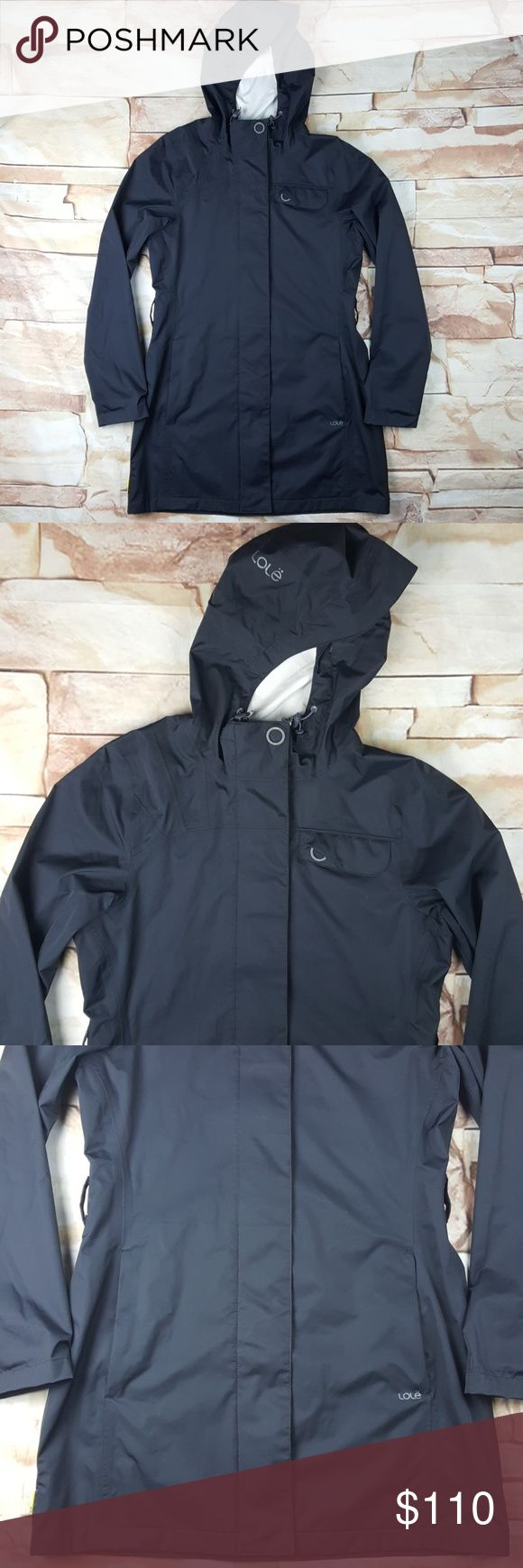 Lole Waterproof Hooded Rain Jacket Size Small Size Small Lole Waterproof Hooded Black Rain Jacket. Jacket is NEAR NEW, there are absolutely no stains, markings, rips, tears or flaws OF ANY KIND. This jacket is very clean. (Box 12) Lole Jackets & Coats