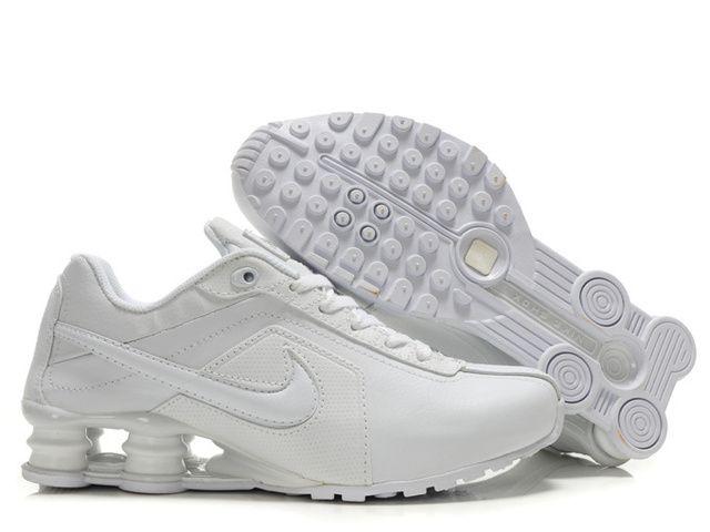 ... Mens Nike Shox R4 All White Shoes 83f06d519