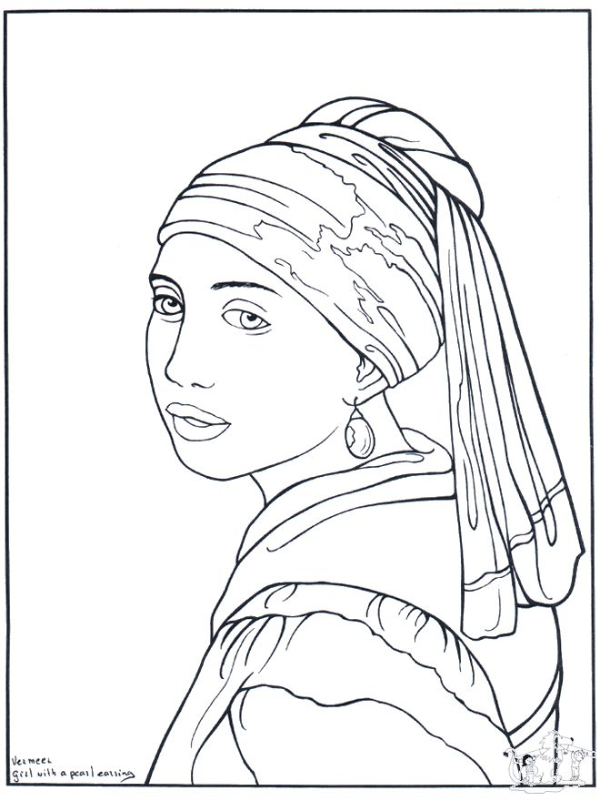 Painter Vermeer coloring pages