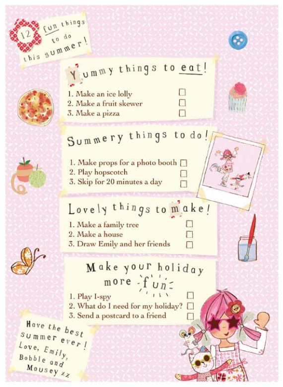 Emily Button Summer School Checklist  http://www.emilybutton.co.uk/News/