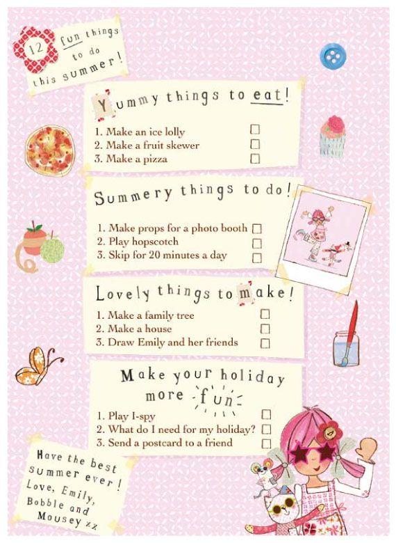 Emily Button Summer School Checklist  http://www.emilybutton.co.uk/News/