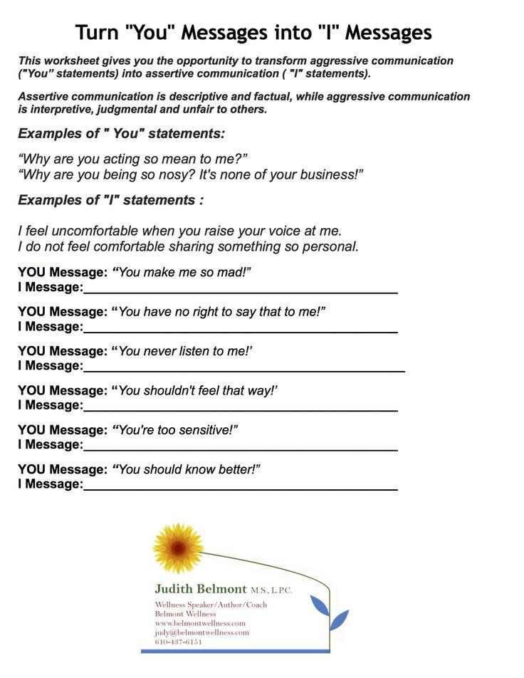 144 best images about OT Mental Health Worksheets ...