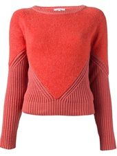 Carven - contrast knit sweater