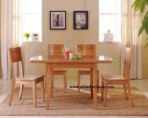 Set Meja Makan Minimalis | Alfah Furniture