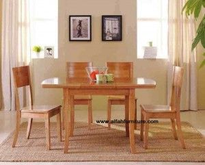 Set Meja Makan Minimalis | Alfah Furniture