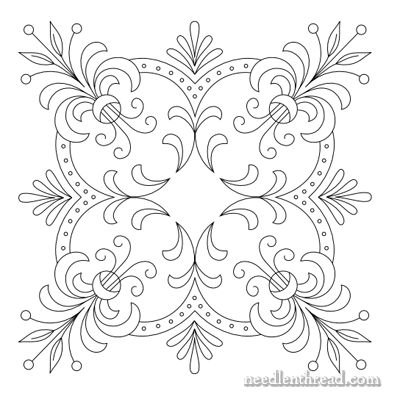 Free Hand Embroidery Pattern: Perfect Pillow Top