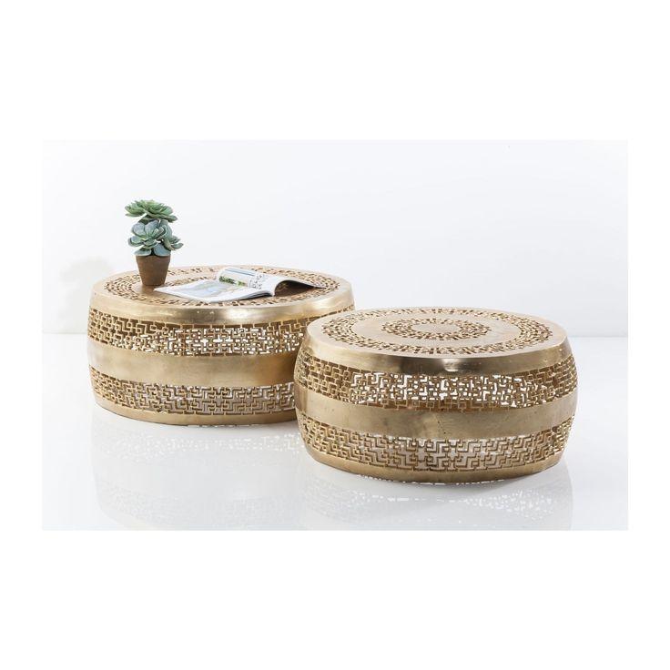 Tables basses Cleopatra Ornament dorées 2/set Kare Design