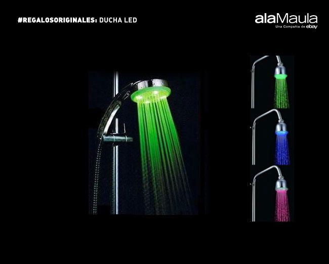 Un baño de color para celebrar la amistad http://www.alamaula.com/q/ducha+led/S1