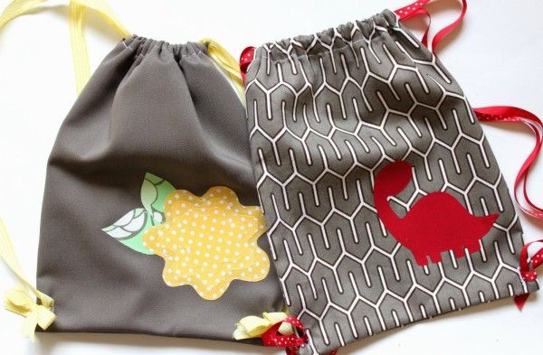 My Little Adventure Pack: How to make a drawstring bag