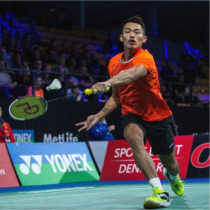 中国のリン・ダン選手。スポーツバドミントン選手