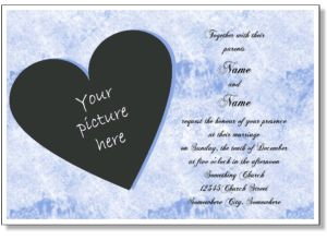 printable wedding invitations free online wedding invitation templates to print with your photo engagement photo or any picture - Online Wedding Invitations Free