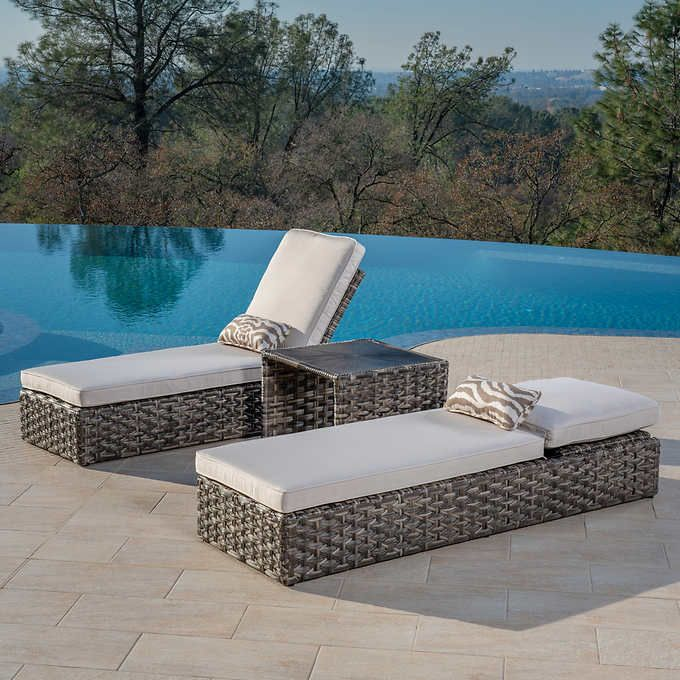Terra Mar 3 Piece Chaise Set Pool Lounge Chairs Pool Furniture