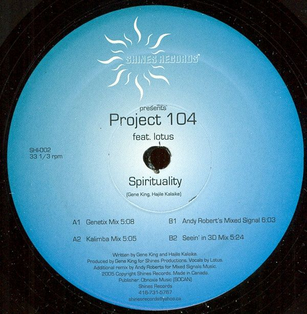 Project 104 - Spirituality (Vinyl) at Discogs