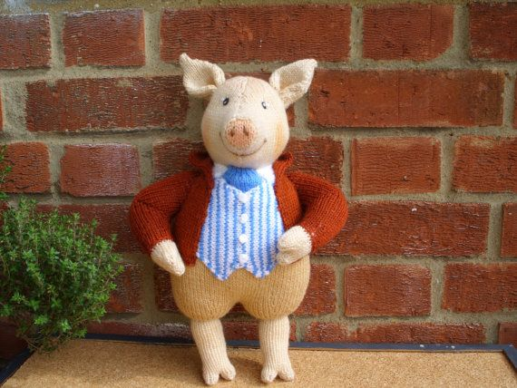 Hand Knitted Toy Beatrix Potter Pigling Bland