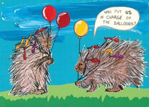 Who put US in charge of Balloons - celebrating 5 years of Porcupine Press