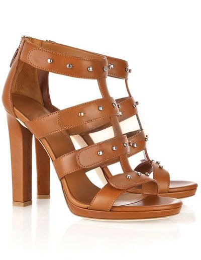 Gorgeous Brown 4 1/3'' Heel Cowhide Fashion Shoes