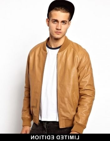 Most Popular Brown Leather Bomber Jackets For Men Pictures