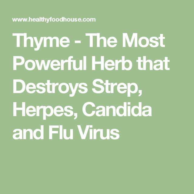 Thyme - The Most Powerful Herb that Destroys Strep, Herpes, Candida and Flu Virus