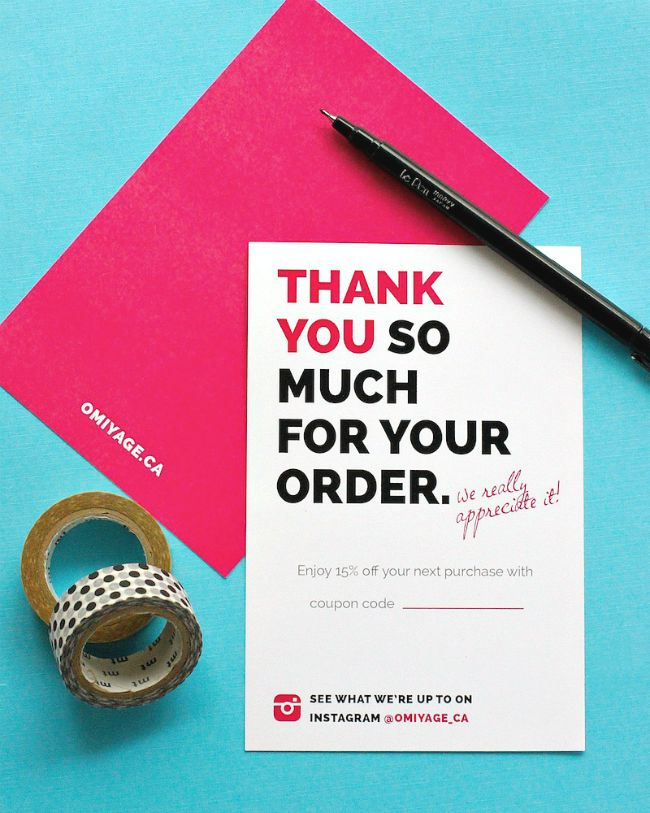 Omiyage Blogs: Totally Design Thank You Cards