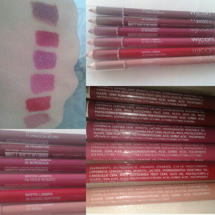 Wjcon-Lip Liner • Price : 2.90 euros • PRO • comfortable to wear • easy availability • great price / quality ratio • great colour • full colour • INCI is not too bad • long duration • I haven't found any cons!