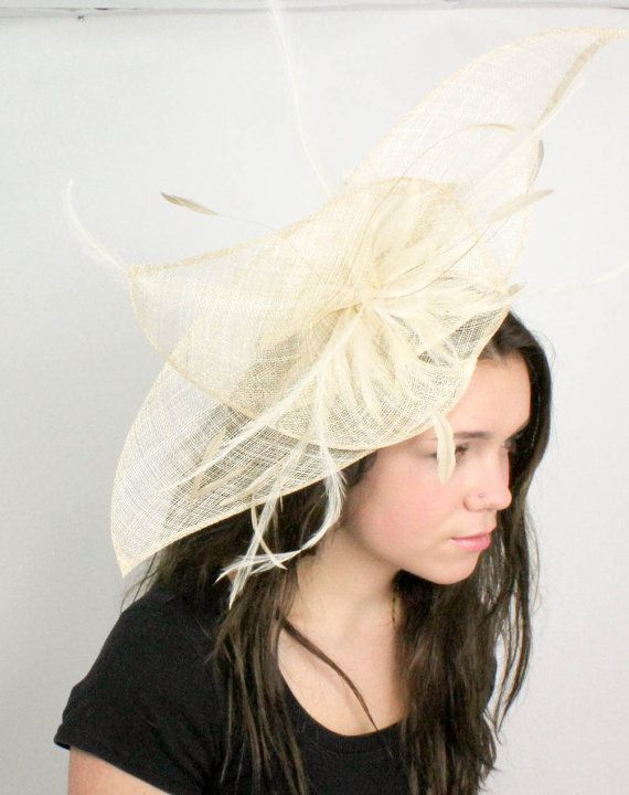 Cream Fascinator Hat for Weddings, Occasions and Parties on a Headband on Etsy, $130.00