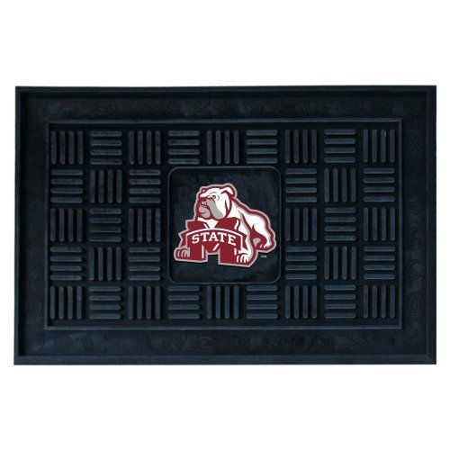 Fanmats 11777 Mississippi State University Medallion Door Mat by Fanmats. $23.30. Adorned with your favorite team's logo, these door mats make a statement while keeping dirt and mud from entering your home. Heavy duty vinyl construction ensures a durable mat. Deep reservoir contains water and debris. Rugged ribs scrape shoes clean. Your favorite team's logo is molded in 3D construction.. Save 33%!