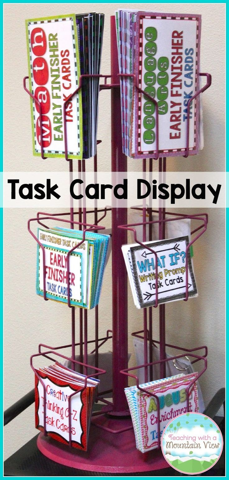 A NEW Task Card Storage Idea and Early Finisher Activities!