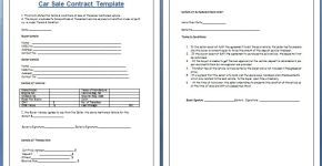 Download Free Car Sale Contract Template