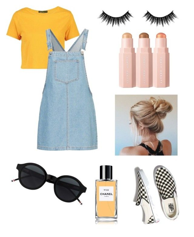 Mellow Yellow by annaschrader on Polyvore featuring polyvore, fashion,  style, Boohoo, Vans