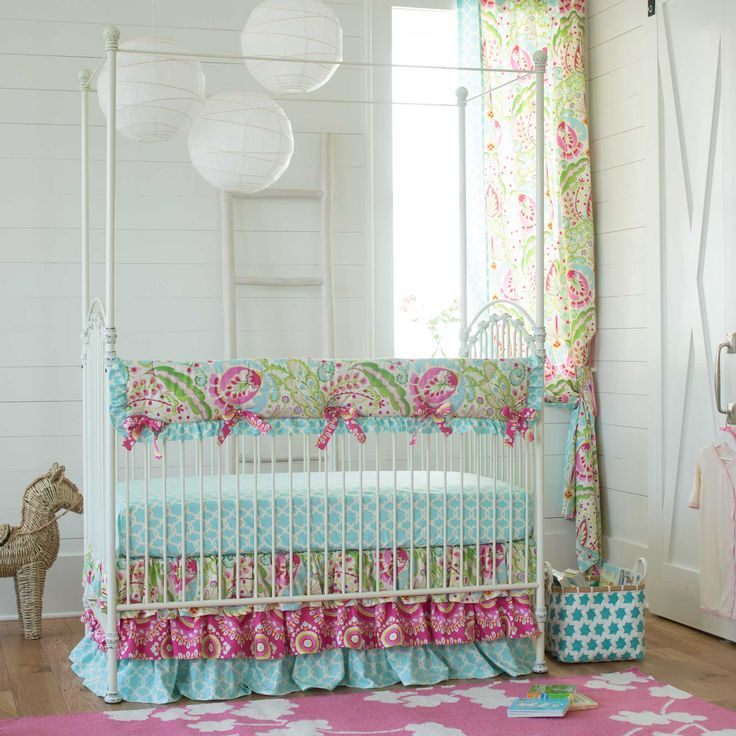 Kumari Garden Crib Bedding | Girl Nursery Bedding | Carousel Designs
