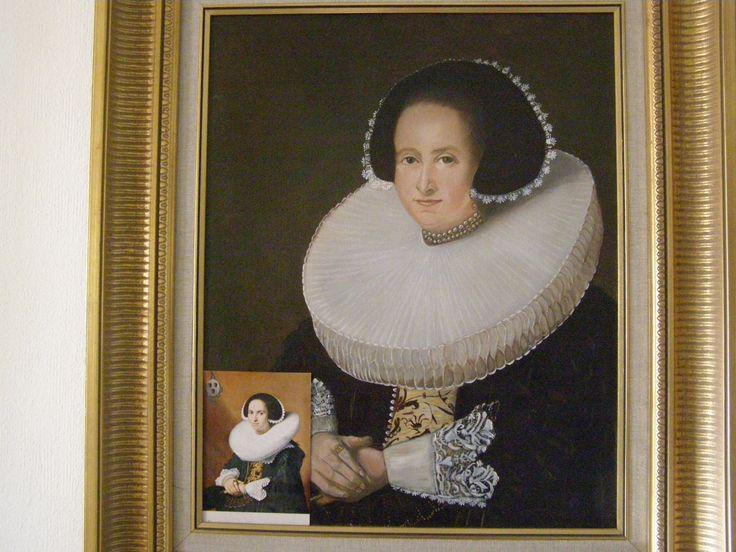 Atie Wijdenes, Dame met molensteenkraag en kanten manchetten