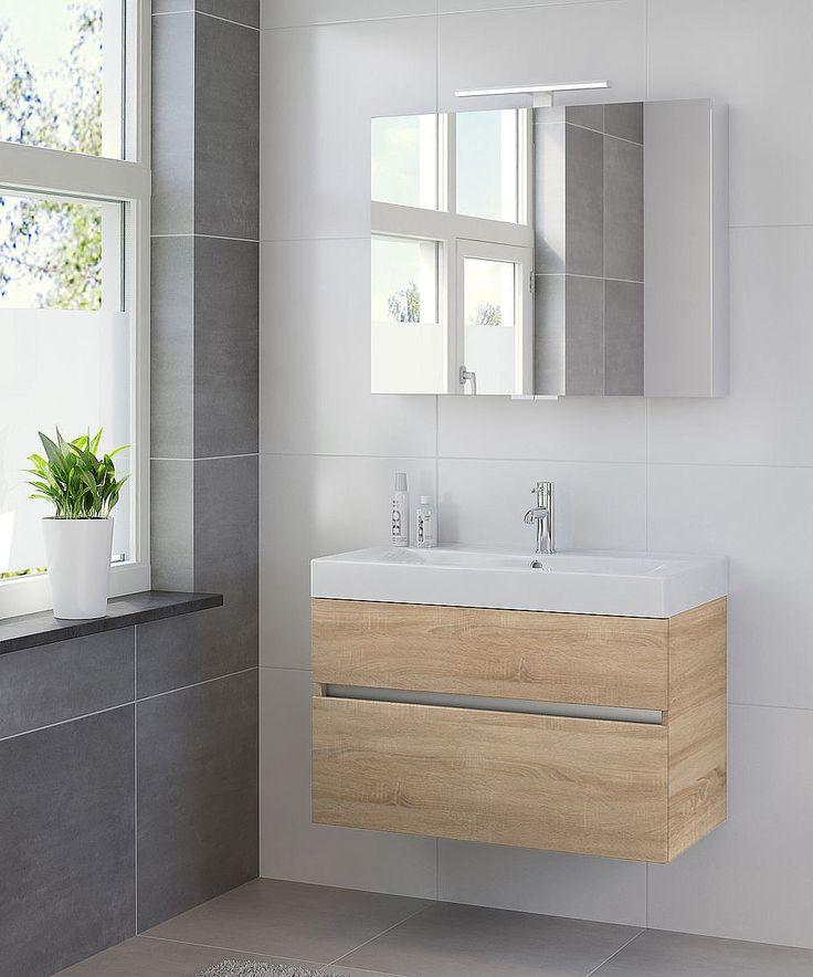 Bruynzeel Nano meubelset 90cm met spiegelkast bardolino   Sanispecials