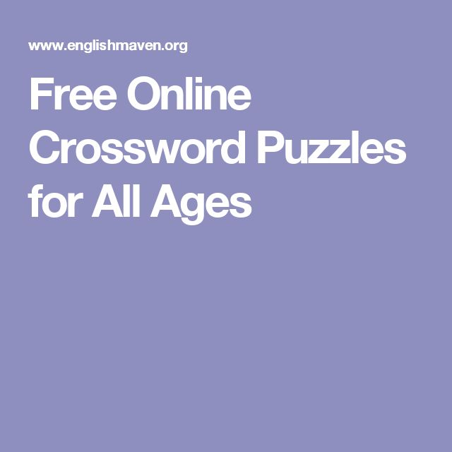 Free Online Crossword Puzzles for All Ages