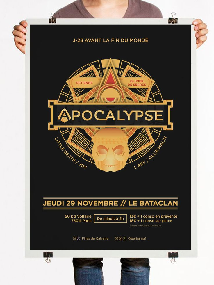 Apocalypse - Poster for a school party at Le Bataclan - Julien Noguera on Behance