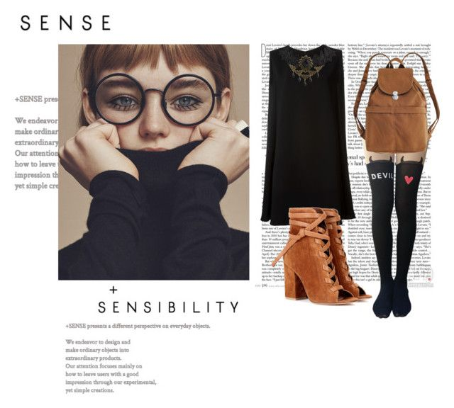 """""""Sens"""" by ginewwra on Polyvore featuring moda, McQ by Alexander McQueen, Gianvito Rossi i BAGGU"""