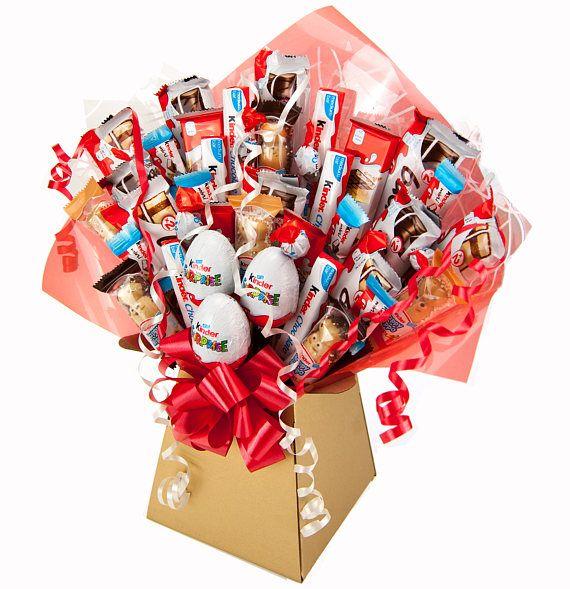 Riesige 41 Stück XL Freundlicher Schokolade Bouquet Dies Ist Unsere Größte  Kinder Bouquet Dieses Atemberaubende Luxus Schokolade Bouquet Enthält 41  Artikel ...
