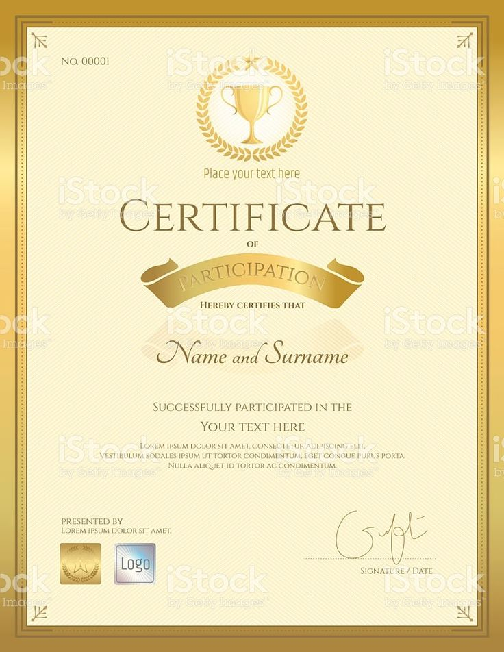 125 best Certificate template images on Pinterest - certificate of participation free template