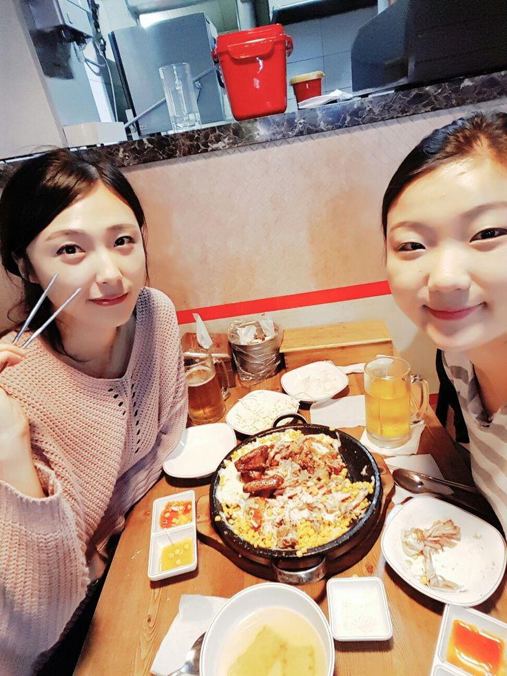 언니와 누룽지통닭에서^.^