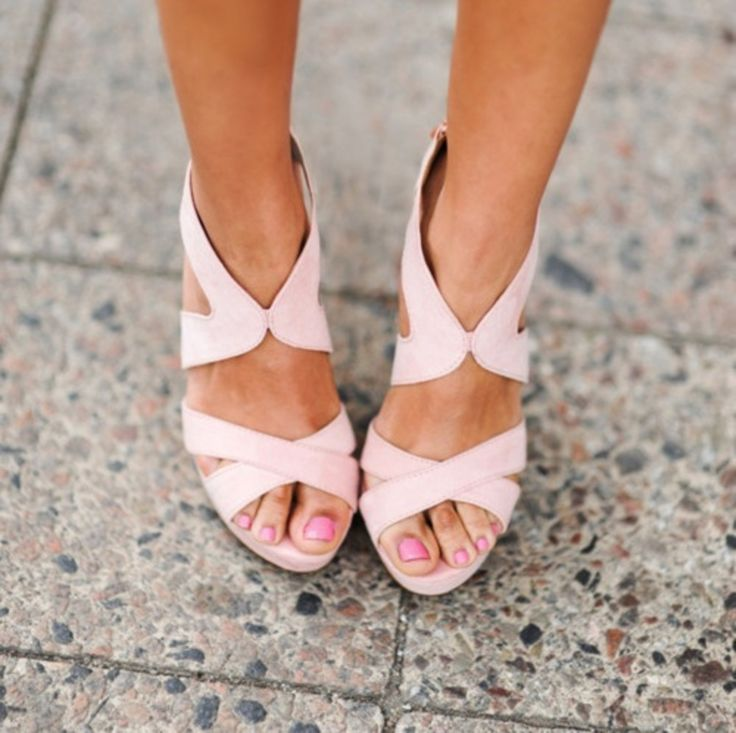 pale pink sandals rethink pink fashion style