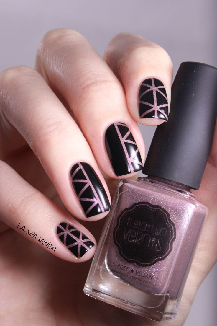 Il Etait Un Vernis - Something To Remember Striping Tape Nail Art 3